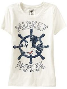 Women's Disney© Mickey Mouse Tees | Old Navy: cute for a red and navy summer trip!