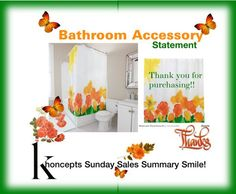 Sold, cheerful orange and yellow floral shower curtain (Washington) Thank you!