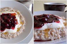 ...konyhán innen - kerten túl...: Mézes-fahéjas zabkása French Toast, Oatmeal, Food And Drink, Pudding, Breakfast, Per Diem, Flan, Rolled Oats, Custard Pudding