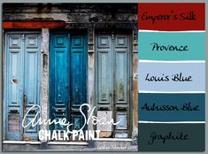 stylish patina, chalk paint, annie sloan, buy chalk paint online www.stylishpatinashop.com  COLORWAYS      A pop of red in a Chalk Paint color group