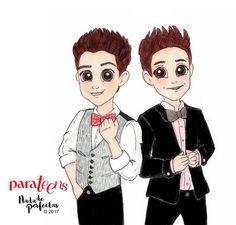 OMG! 😻😻🙈 @ruggeropasquarelli junto a @michaelronda para la edición ♥ San Valentín ♥ febrero de @parateensonline! Amamos a estos chicos que le dan vida a uno de nuestros personajes favoritos en #SoyLuna 🌙 Ellos estarán en la portada de mi revista...