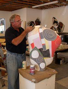 Glazing a vessel – Michael Gustavson Aboriginal Painting, Ceramic Artists, Glaze, Art Ideas, Enamel, Pottery, Sculpture, Contemporary, Studio