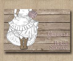 Bride in Boots Bridal Shower Invitations for Western Weddings / Pink Chalkboard Cards - Cowboy Boots Wedding Boots / PRINTED Invites on Etsy, $100.00