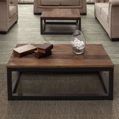 Zuo Modern Civic Center Long Coffee Table - Distressed Natural - 98123
