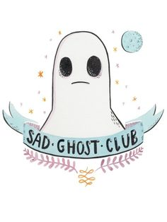 The last SAD GHOST CLUB tee design is now live on the ohhdeer shop. You can buy it here. They're judged on popularity so every reblog/like/tweet/share counts and I am overwhelmed by the response so far! So if you don't want to buy one but you want to help out then spread the word! And remember - sad ghosts forever.