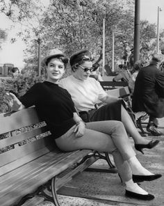 """ Romy & Magda enjoying Disneyland, 1958 """