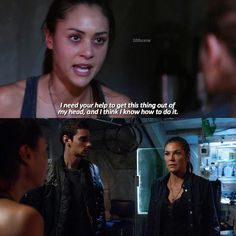 "#The100 3x10 ""Fallen"" - Raven, Jasper and Abby"