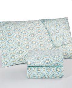 Martha Stewart Collection Divine 300 Thread Count Cotton Percale Queen Sheet Set