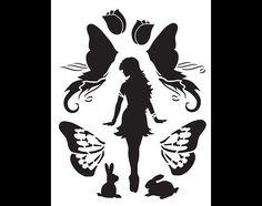 Diva Fairy Art Stencil  8.5 x 11 SKU:STCL884_1 por StudioR12