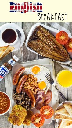 A look at the most iconic morning fare in the world - English breakfast. This hearty meal features eggs, sausages, bacon, beans, mushrooms, and more!