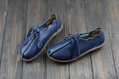 Handmade Women Leather Shoes,Oxford Soft Shoes, Flat Shoes, Womens Shoes, Every Day shoes