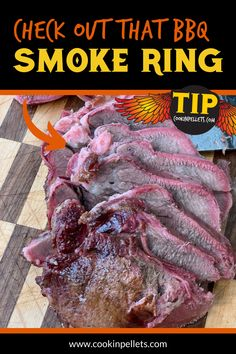 Best BBQ Tip. Get the best results with your favorite Smoker Recipes using the highest quality pellet grilling pellets out there! This beef was smoked with our 100% Hickory Cookinpellets - just look at that smoke ring! For flavorful results every time with low ash, try our pellet grill pellets that are made from 100% Hardwood, with no fillers #BBQ Best Smoker Grill, Smoker Grill Recipes, Grilling Tips, Grilling Recipes, Meat Recipes, Bbq Meat, Grill Accessories, Smoked Chicken, Best Bbq