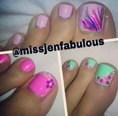 On small nails, use dots as alternative to French tips :) Toenail Polish Designs, Pedicure Designs, Pedicure Nail Art, Toe Nail Designs, Toe Nail Art, Manicure And Pedicure, Toe Nails, Pedicure Ideas, Spa Pedicure