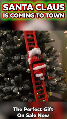 Get Out The Milk & Cookies! Watch Santa climb up and down your tree this Holiday Season with the all-new Climbing Santa Claus Christmas Ornament, including a ladder that he climbs up and down Christmas Gifts For Friends, All Things Christmas, Christmas Time, Holiday Gifts, Christmas Crafts, Xmas, Christmas Ornaments, Holiday Cookies, Christmas Centerpieces
