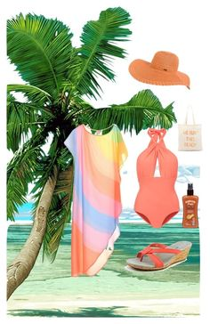 """Hit the beach"" by kayearnold on Polyvore featuring Lilliput & Felix, Mara Hoffman, Patagonia, Rip Curl, Zhuu, Hawaiian Tropic, women's clothing, women's fashion, women and female"