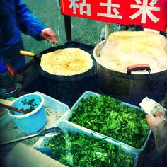 #Shanghai street food - crepe thingy