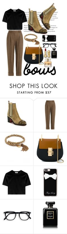 """""""Untitled #430"""" by tahmazovarzu ❤ liked on Polyvore featuring Christian Louboutin, Michael Kors, Alex and Ani, Chloé, Casetify, Chanel and Givenchy"""