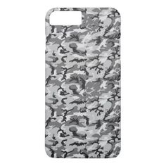 #black - #Urban Camouflage Pattern - Black & Grey iPhone 7 Plus Case