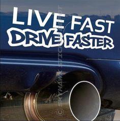 Live Fast Drive Faster Bumper Sticker Vinyl Decal For Honda Vtec Muscle Car JDM #3M