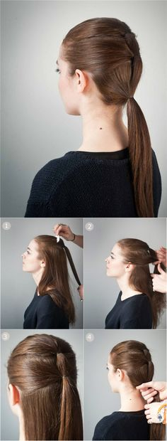 #triple #ponytail #hairstyle #hair #glam #greendust #hairdryer #hairstyler