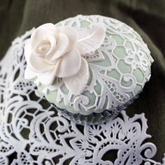 Edible Lace, Baking Cupcakes, Gum Paste, Mint Green, Cake Decorating, Cookies, Weddings, Creative, Flowers