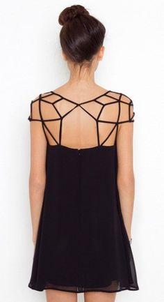 Cage shoulder dress
