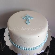 First Communion Cake - by Mari's Boutique Cakes