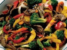 """I teach a """"Stir Fry"""" next time- so I developed this super easy, SUPER quick recipe just for them! Out of 20  classes, this was one of their most favorite recipes. :) You may substitute Chicken or Shrimp in place of the beef, and use just about any vegetable you like, as long as you keep in mind that certain vegetables need to be blanched (boiled briefly) before going i..."""