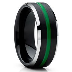 Green Tungsten Wedding Bands | Green Tungsten Wedding Rings – Clean Casting Jewelry Black Tungsten Rings, Tungsten Wedding Rings, Purple Rings, Black Rings, Engraving Fonts, Laser Engraving, Turquoise Color, Pale Pink Bridesmaids