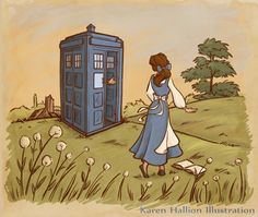 Doctor Who Meets Disney Princesses by Karen Hallion