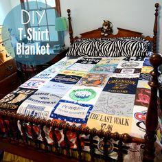 DIY T-shirt Quilt