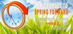 Don't forget that this Sunday, March 2014 Daylight Savings Time begins and clocks spring forward 1 hour at Daylight Savings Time Begins, Saturday Night, Sunday, Clock Spring, March 9th, Clocks, Don't Forget, Posters, Shit Happens