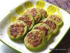 [소고기호박전]소고기와 야채로 속을 채운 담백,맛있는 호박전