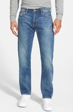 $195, Jean Shop Slim Fit Selvedge Jeans. Sold by Nordstrom. Click for more info: https://lookastic.com/men/shop_items/223557/redirect