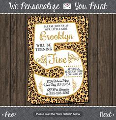 Cheetah 5th Birthday Invitation - Cheetah Fifth Birthday Invitations  sc 1 st  Pinterest & Cheetah Birthday Party Ideas Cheetah Racing Games Cheetahs are known ...