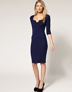 Navy Pencil Dress - I own and LOVE this.