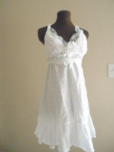 Moonlight Simple Wedding Dress Beach Rustic Garden Bespoke Short Wispy Bridal Gown Fairy Cotton Reception Frock. $450.00, via Etsy.