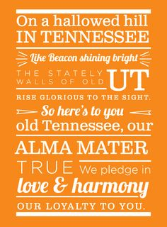 There's nothing like a verse of the alma mater to bring a tear to a Vol's eye, but did you know it wasn't written by an alumnus? Take a look at the history behind a few of the university's most beloved songs. Tn Vols Football, Lady Vols Basketball, Tennessee Volunteers Football, Tennessee Football, University Of Tennessee, Tennessee Song, Tennessee Girls, Vol Nation, Go Vols