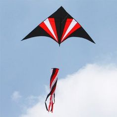 Amazon.com: Hengda Kite 1.5m Spinner Tail Triangle /Delta RED Kite with Flying Tools: Toys & Games