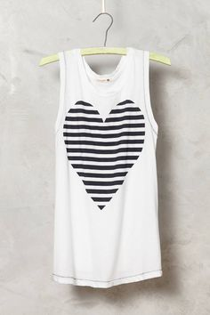 Striped Heart Tank by Sundry #anthrofave #anthropologie