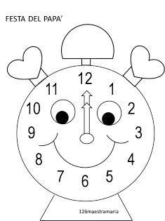 orologio papà disegno