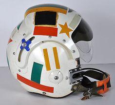 Vintage-NAMED-US-Navy-Pilot-Flight-Helmet-APH-6CL-Size-Large-amp-Carry-Bag-Vietnam