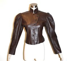Vintage UNGARO PARALLELE Leather Jacket Brown Victorian Blazer by StatedStyle on Etsy https://www.etsy.com/listing/213693063/vintage-ungaro-parallele-leather-jacket