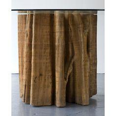 Jose Zanine Caldas, Brazil, 1970s  Hall table in aquariquara wood with glass top.