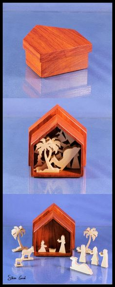 Scrollsaw Workshop: Mini Nativity Makes a great Christmas Gift.