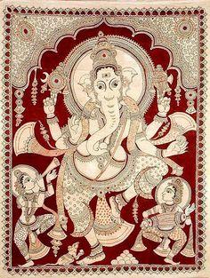 Indian Painting Styles...Kalamkari Paintings (Andhra Pradesh)-ganesha1-5-.jpg