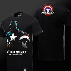 Luminous Superhero Captain America T-shirt