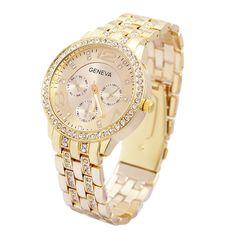 >> Click to Buy << Relogio Feminino 2017 Luxury Geneva Brand fashion gold casual watch women ladies men Crystal dress diamond quartz wrist watch #Affiliate