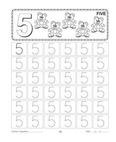 34 Best Homeschooling: Number Tracing images