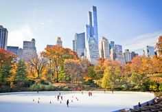 A complete guide to ice-skating in NYC this Christmas and beyond, including at the Central Park and Rockefeller Center ice rinks